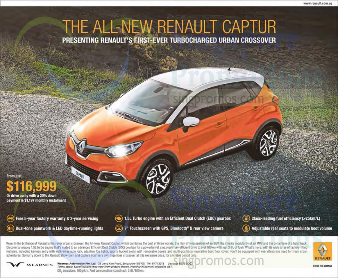 renault captur offer 3 apr 2015. Black Bedroom Furniture Sets. Home Design Ideas