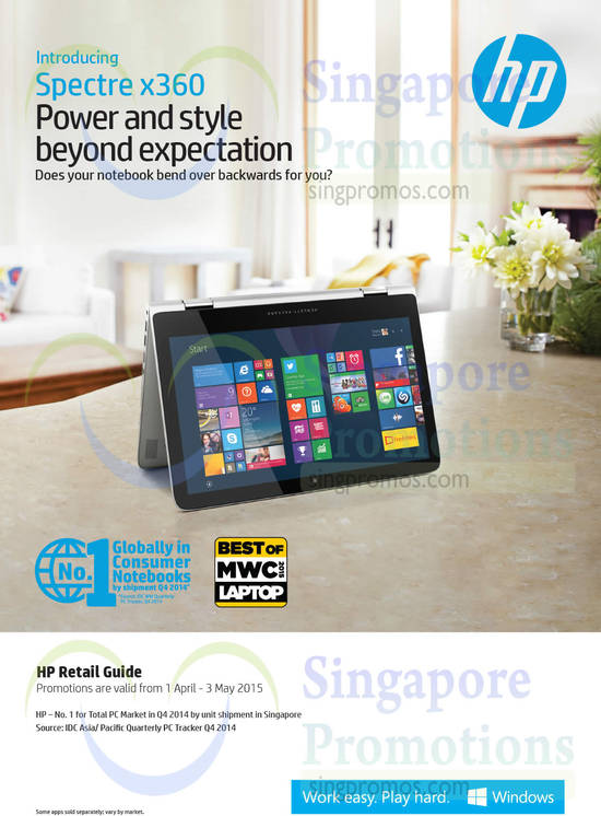 Featured image for HP Notebooks, Desktop PCs & Accessories Offers 1 Apr - 3 May 2015