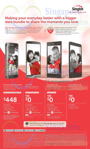Featured image for Singtel Broadband, Mobile & TV Offers 25 Apr – 1 May 2015