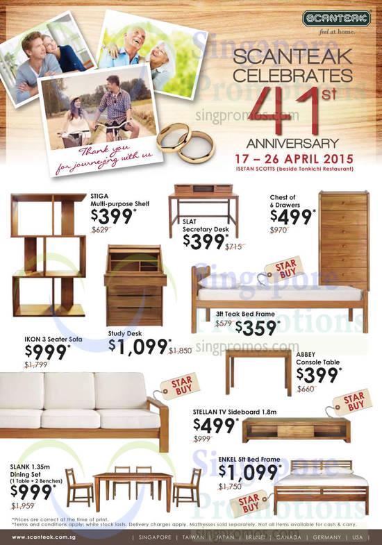 Shelf, Desk, Drawers, Bed Frame, Sofa, TV Sideboard, Dining Set