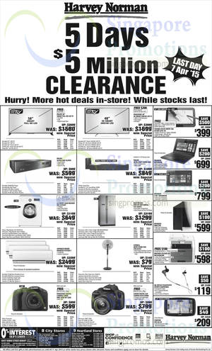 Featured image for Harvey Norman Electronics, IT, Appliances & Other Offers 4 – 7 Apr 2015