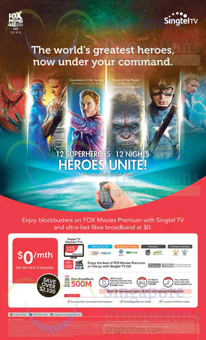 Featured image for Singtel Broadband, Mobile & TV Offers 16 – 22 May 2015