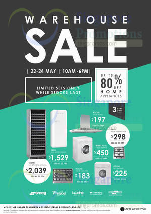 Featured image for APS Lifestyle Annual Warehouse Sale 22 – 24 May 2015