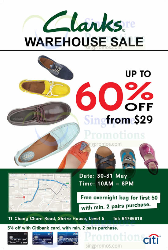 Clarks Warehouse Sale 30 – 31 May 2015