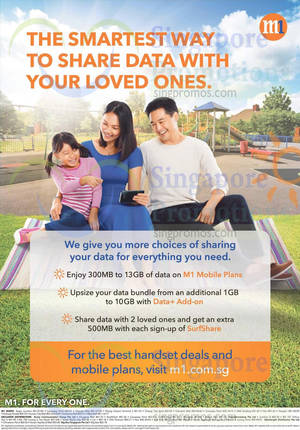 Featured image for M1 Home Broadband, Mobile & Other Offers 9 – 15 May 2015
