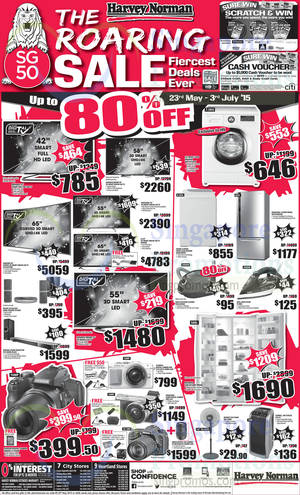 Featured image for Harvey Norman Electronics, Appliances, Furniture & Other Offers 23 – 29 May 2015