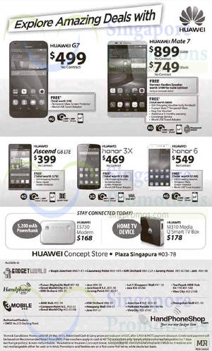 Featured image for Huawei Smartphones, Tablets & Accessories No Contract Offers 23 – 29 May 2015