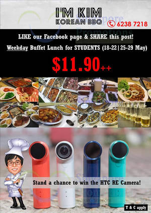 Featured image for I'm KIM Korean BBQ $11.90 Student Buffet Weekdays Promo 18 – 29 May 2015