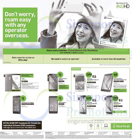 LG G4, Sony Xperia Z3 Compact, Asus Zenfone 2, Xiaomi Redmi 2, Samsung Galaxy Note Edge, Samsung Galaxy S6, Samsung Galaxy S6 Edge, Samsung Galaxy Tab A 8.0