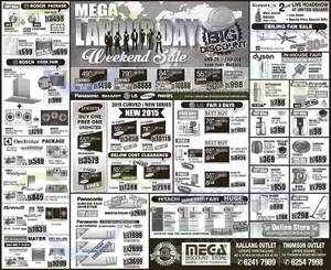 Featured image for Mega Discount Store TVs, Washers, Hobs & Other Appliances Offers 2 – 3 May 2015