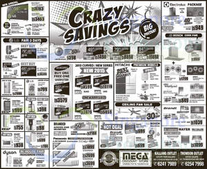 Featured image for Mega Discount Store TVs, Washers, Hobs & Other Appliances Offers 23 May 2015