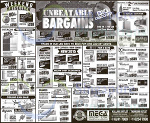 Featured image for Mega Discount Store TVs, Washers, Hobs & Other Appliances Offers 9 May 2015