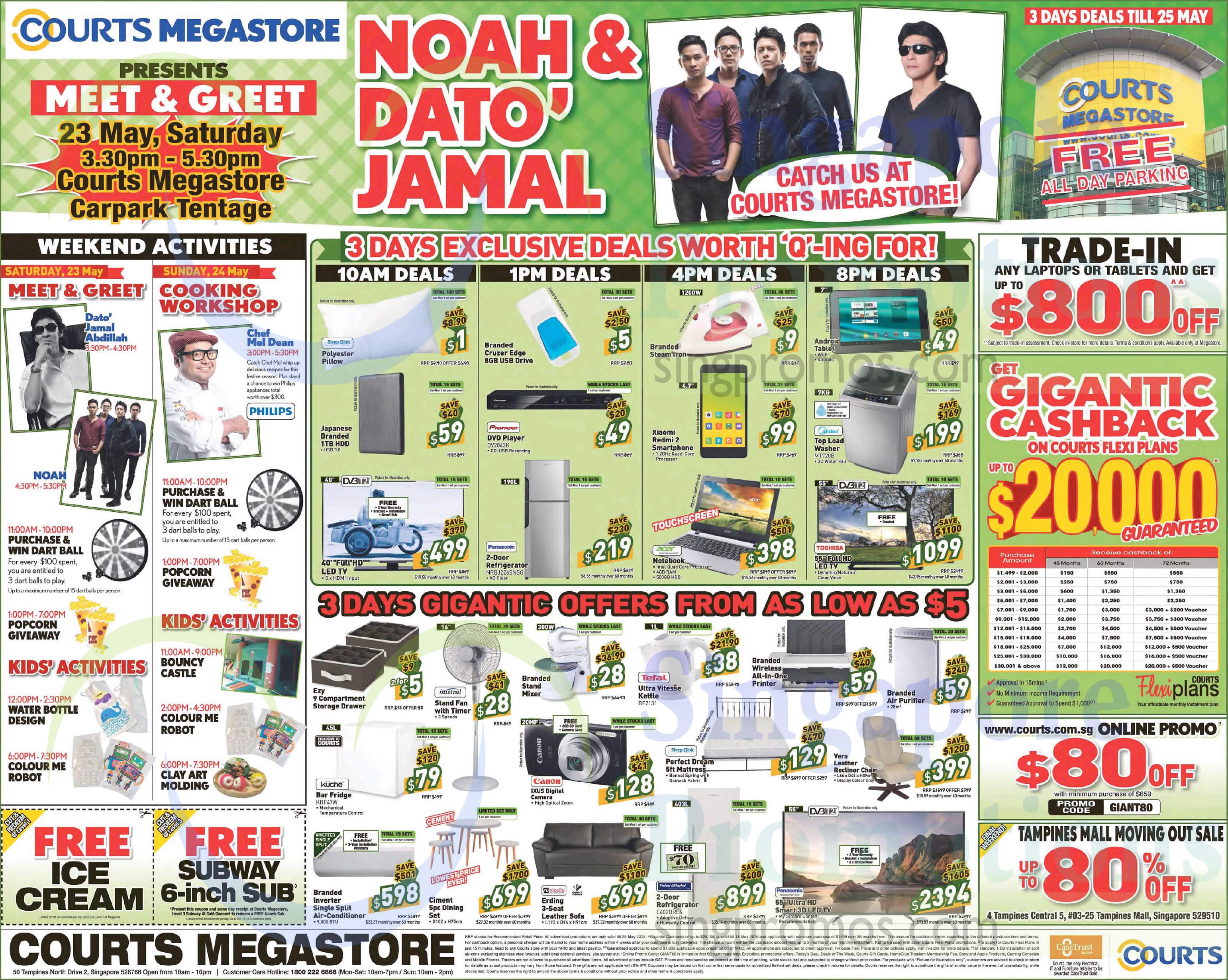Featured image for Courts Gigantic Raya Sale Offers 23 - 25 May 2015
