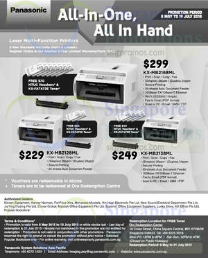 Featured image for Panasonic Laser Printers Offers 12 May – 19 Jul 2015