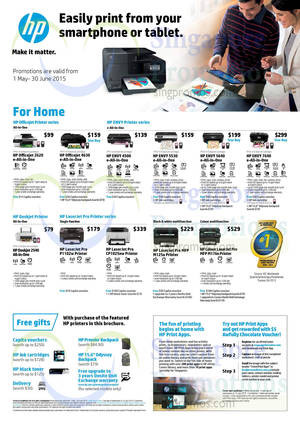Featured image for HP Printers & Scanners Promotion Offers 1 May – 30 Jun 2015