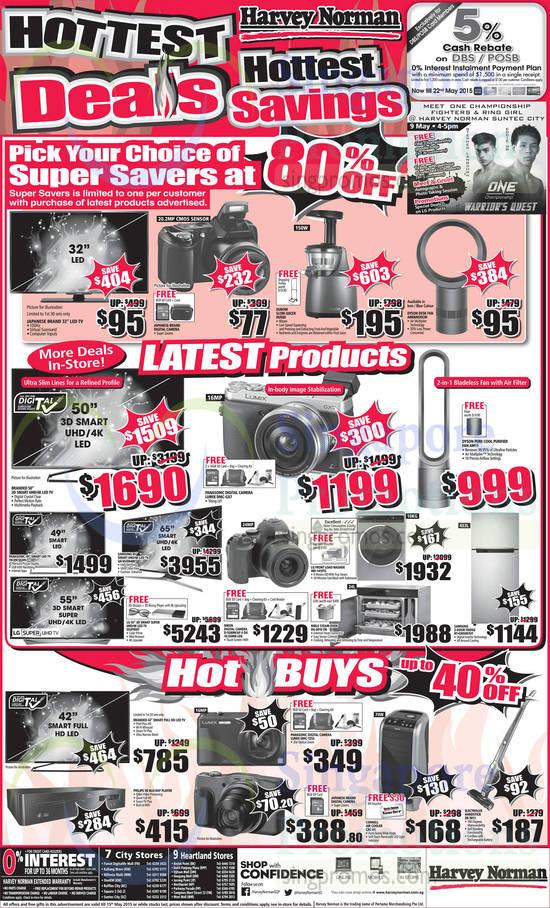 Hurom HU500 Slow Juicer, Dyson AM06M30CM Fan, Panasonic TH-49CS630S TV, Samsung UA65JU6400 TV, LG 55UF950T TV, Panasonic Lumix DMC-GX7 Digital Camera, Nikon D5500 DSLR Digital Camera, LG WD-1410TS Washer, Miele DG 6010 OB Oven, Dyson AM11 Purifier Fan, Samsung RT-43H5007UT Fridge, Panasonic Lumix DMC-TZ55 Digital Camera, Cornell CAC-61 Air Cooler and Electrolux ZB-3013 Vacuum Cleaner