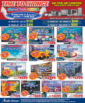 Featured image for Audio House Electronics, TV, Notebooks & Appliances Offers 23 May – 1 Jun 2015