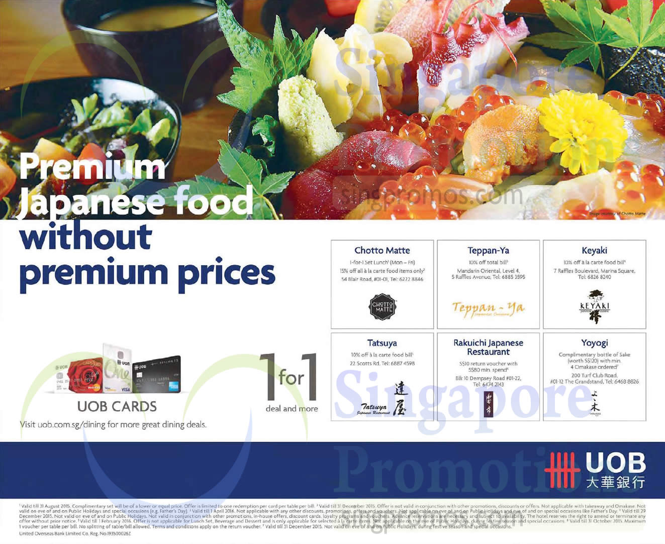 uob dining 28 may 2015 uob japanese dining offers 29 may 2015. Black Bedroom Furniture Sets. Home Design Ideas