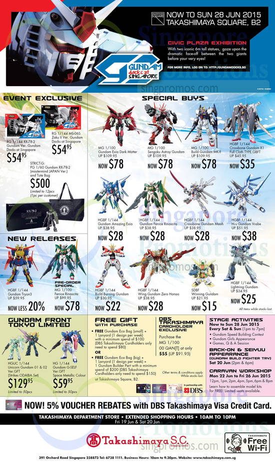 19 Jun Gundam Event Exclusives, Special Buys, New Releases, Free Gifts, Stage Activities