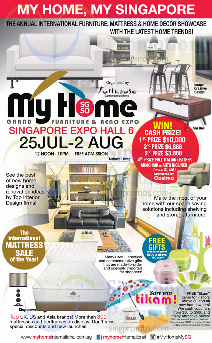 24 jul free gifts mattresses on sale lucky draw my for Cheap home furniture singapore