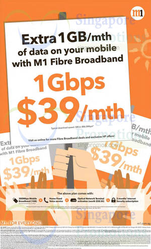 Featured image for M1 Home Broadband, Mobile & Other Offers 13 – 19 Jun 2015