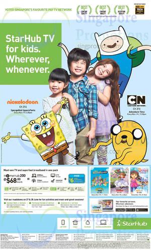 Featured image for Starhub Broadband, Mobile, Cable TV & Other Offers 27 Jun – 3 Jul 2015