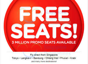 Featured image for Air Asia FREE Seats Promotion 22 – 28 Jun 2015