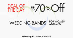 Featured image for Amazon.com Up To 70% OFF Wedding Bands 24hr Promo 30 Jun – 1 Jul 2015