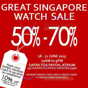a752c14a71d04d Arista Branded Watches Sale   Safra Toa Payoh 18 – 21 Jun 2015