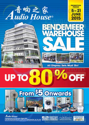 Featured image for Audio House Bendemeer Warehouse Sale 6 – 21 Jun 2015
