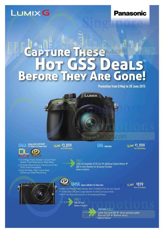 Panasonic GH4A Digital Camera, Panasonic GH4 Digital Camera, Panasonic GM5K Digital Camera