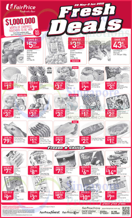 Fresh Deals, Fruits, Frozen Meats, Chilled Products