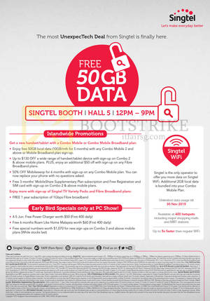 Featured image for Singtel PC SHOW 2015 Broadband, Mobile & TV Offers 4 – 7 Jun 2015