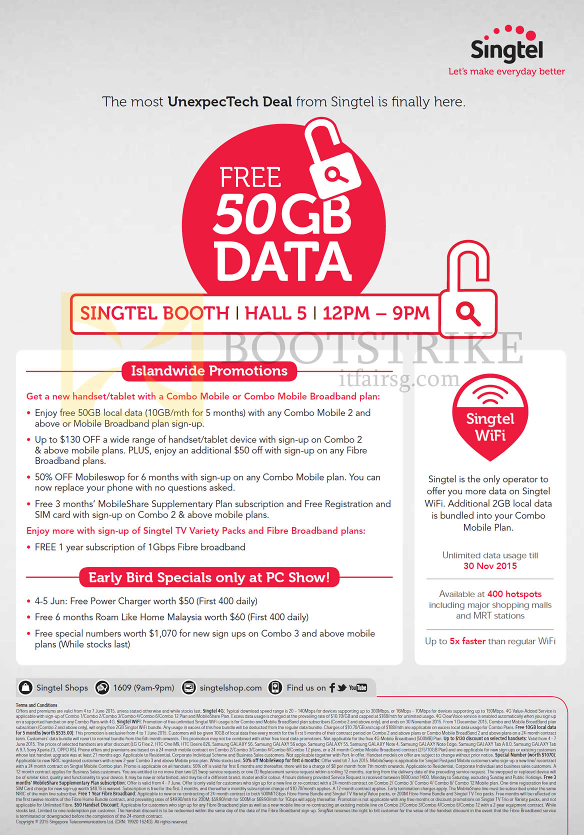 Singtel PC SHOW 2015 Broadband, Mobile & TV Offers 4 – 7 Jun 2015