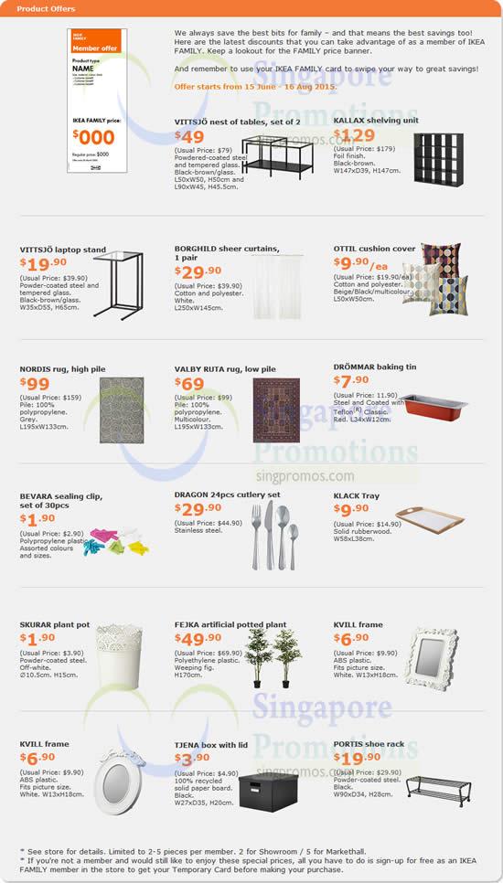 ikea promo offers 16 jun 16 aug 2015. Black Bedroom Furniture Sets. Home Design Ideas