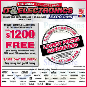Featured image for Great Singapore Sale IT & Electronics 2015 @ Singapore Expo 25 – 28 Jun 2015