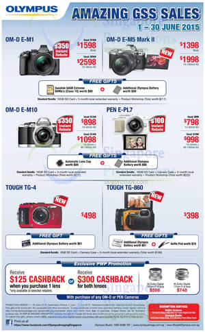 Featured image for Olympus Digital Cameras Offers 11 – 30 Jun 2015