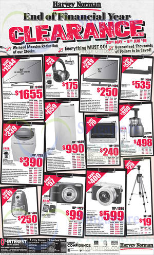 Featured image for Harvey Norman Electronics, Appliances, Furniture & Other Offers 30 May – 5 Jun 2015