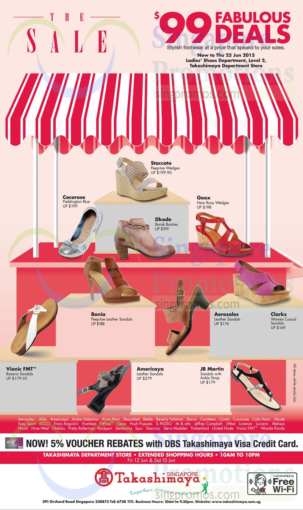 Takashimaya  99 Branded Ladies  Shoes Offers 12 – 25 Jun 2015 454341ecc9