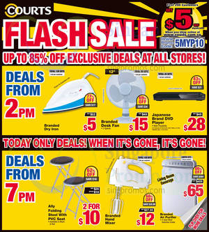 Featured image for Courts Up To 85% Off 1-Day Offers 12 Jun 2015