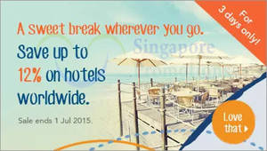Featured image for Zuji Singapore 8% to 12% OFF Hotels 1-Day Coupon Code 1 Jul 2015