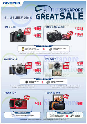 Featured image for Olympus Digital Cameras & Voice Recorders Offers 1 – 31 Jul 2015