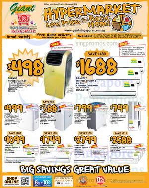 Featured image for Giant Hypermarket Air Conditioner Offers 31 Jul – 13 Aug 2015