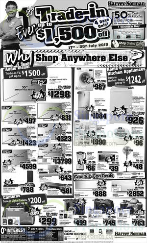 Featured image for Harvey Norman Electronics, Appliances, Furniture & Other Offers 17 – 20 Jul 2015