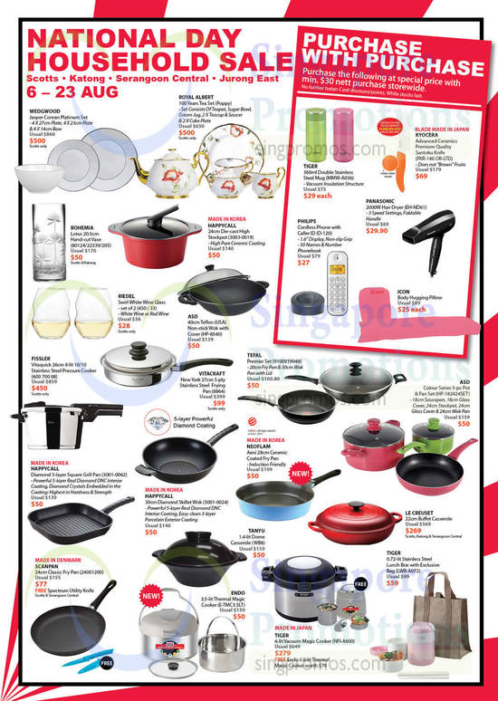 Isetan National Day Household Sale 6 23 Aug 2015