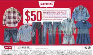 Featured image for Levis $50 Second Piece Promo 24 Jul 2015