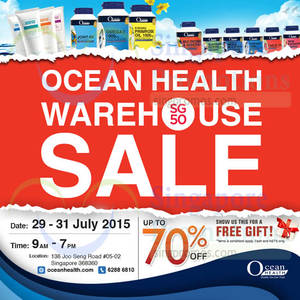 Featured image for Ocean Health Warehouse SALE 29 – 31 Jul 2015