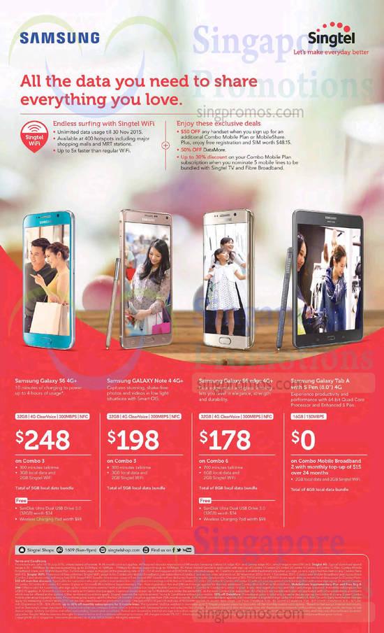 Samsung Galaxy S6, Samsung Galaxy Note 4, Samsung Galaxy S6 Edge, Samsung Galaxy Tab A 8.0