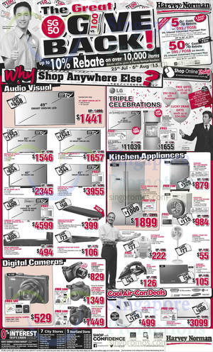 Featured image for Harvey Norman Electronics, Appliances, Furniture & Other Offers 25 – 31 Jul 2015