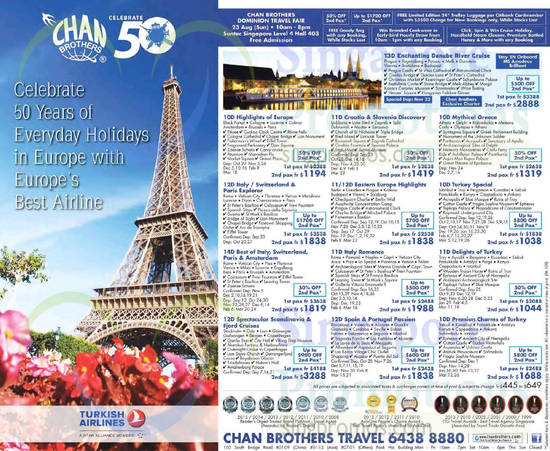 18 Aug Selected Holiday Packages